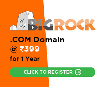 Register a Domain Name @ ₹399 for 1 YearRegister a Domain Name @ ₹399 for 1 Year